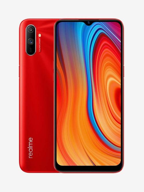 Tata Cliq offers on Mobiles - RealMe C3 64 GB (Blazing Red) 4 GB RAM, Dual SIM 4G