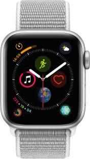 Flipkart offers on Mobiles - Apple Watch Series 4 GPS 40 mm Silver Aluminium Case with Seashell Sport Loop Grey Strap, Regular
