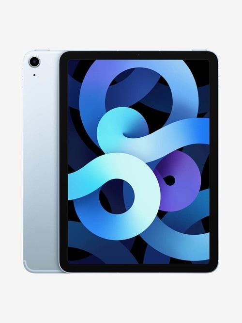 Tata Cliq offers on Mobiles - Apple iPad Air (4th Gen) MYH02HN/A (10.9 inch, 64 GB, Wi-Fi + Cellular) Sky Blue