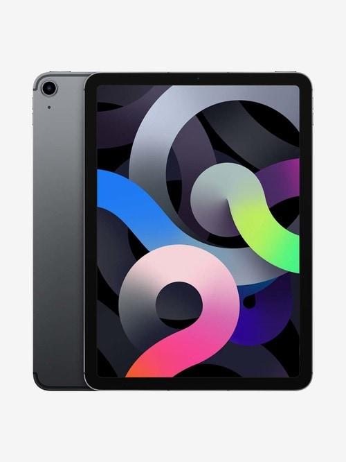 Tata Cliq offers on Mobiles - Apple iPad Air (4th Gen) MYGW2HN/A (10.9 inch, 64 GB, Wi-Fi + Cellular) Space Grey