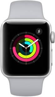 Flipkart offers on Mobiles - Apple Watch Series 3 42 mm Silver Aluminum White Sport Band (GPS) White Strap, Regular