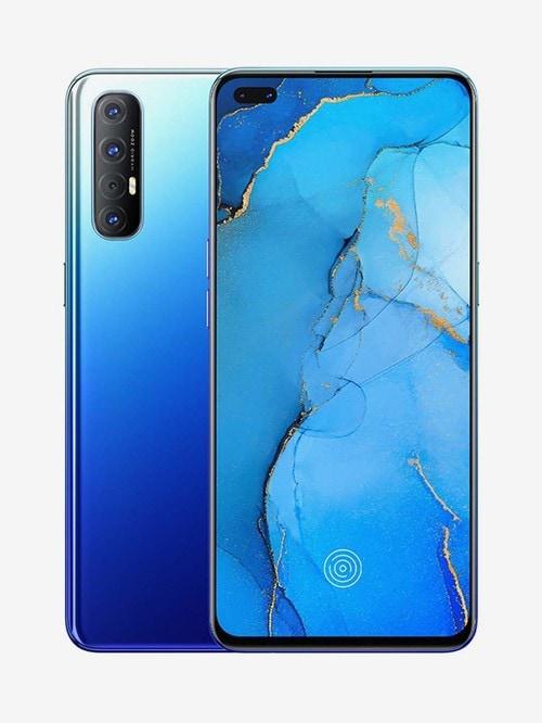 Tata Cliq offers on Mobiles - OPPO Reno 3 Pro 256 GB (Auroral Blue) 8 GB RAM, Dual SIM 4G