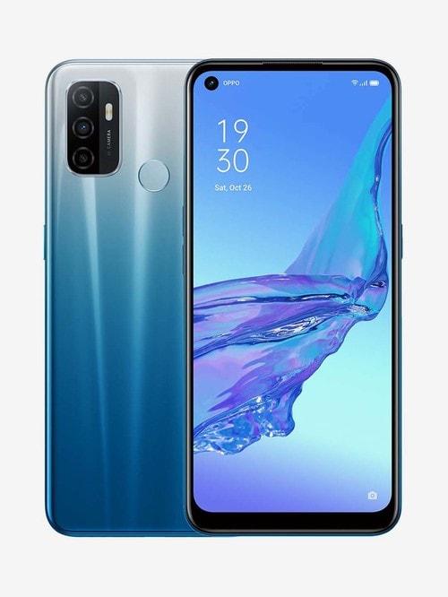 Tata Cliq offers on Mobiles - OPPO A53 128 GB (Fancy Blue) 6 GB RAM, Dual Sim 4G