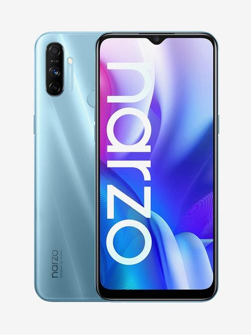 Tata Cliq offers on Mobiles - RealMe Narzo 20A 32 GB (Victory Blue) 3 GB RAM, Dual SIM 4G