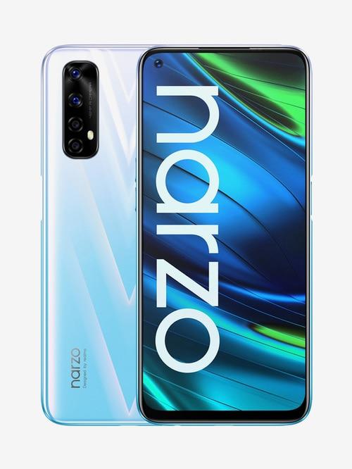Tata Cliq offers on Mobiles - RealMe Narzo 20 Pro 128 GB (White Knight) 8 GB RAM, Dual SIM 4G