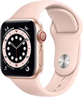 Amazon offers on Mobiles - New Apple Watch Series 6 (GPS + Cellular, 40mm) - Gold Aluminium Case with Pink Sand Sport Band