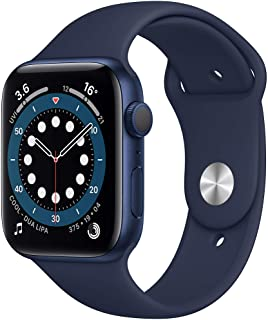 Amazon offers on Mobiles - New Apple Watch Series 6 (GPS, 44mm) - Blue Aluminium Case with Deep Navy Sport Band