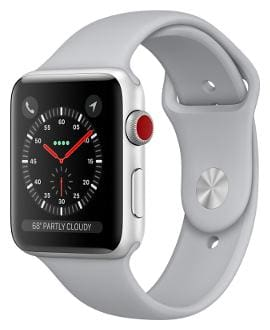 Paytmmall offers on Mobiles - Apple Watch Series 3 GPS + Cellular;38mm Silver Aluminium Case with Fog Sport Band