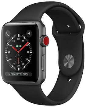 Paytmmall offers on Mobiles - Apple Watch Series 3 GPS + Cellular;42mm Space Grey Aluminium Case with Grey Sport Band