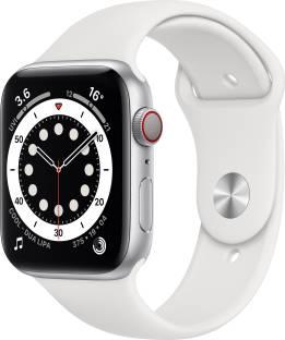 Flipkart offers on Mobiles - Apple Watch Series 6 GPS + Cellular 44 mm Silver Aluminium Case with White Sport Band White Strap, Regular