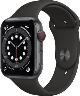 Flipkart offers on Mobiles - Apple Watch Series 6 GPS + Cellular 44 mm Space Grey Aluminium Case with Black Sport Band Black Strap, Regular