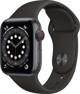 Flipkart offers on Mobiles - Apple Watch Series 6 GPS + Cellular 40 mm Space Grey Aluminium Case with Black Sport Band Black Strap, Regular