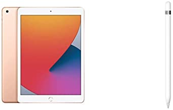 Amazon offers on Mobiles - New Apple iPad (10.2-inch, Wi-Fi, 128GB) - Silver (Latest Model, 8th Generation)+Apple Pencil (1st Generation)
