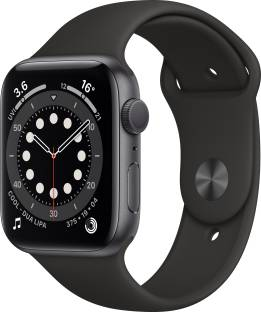 Flipkart offers on Mobiles - Apple Watch Series 6 GPS 44 mm Space Grey Aluminium Case with Black Sport Band Black Strap, Regular