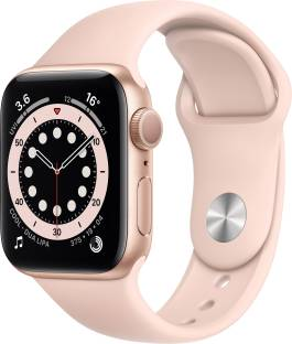 Flipkart offers on Mobiles - Apple Watch Series 6 GPS 40 mm Gold Aluminium Case with Pink Sand Sport Band Pink Strap, Regular
