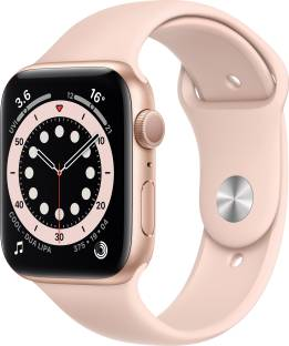 Flipkart offers on Mobiles - Apple Watch Series 6 GPS 44 mm Gold Aluminium Case with Pink Sand Sport Band Pink Strap, Regular