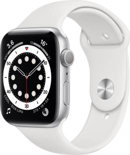 Flipkart offers on Mobiles - Apple Watch Series 6 GPS 40 mm Silver Aluminium Case with White Sport Band White Strap, Regular