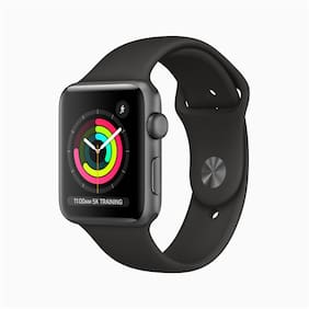 Paytmmall offers on Mobiles - Apple Watch Series 3 GPS42mm Space Grey Aluminium Case with Black Sport Band