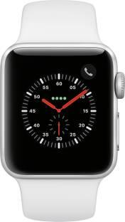 Flipkart offers on Mobiles - Apple Watch Series 3 GPS + Cellular 38 mm Aluminium Case White Strap, Regular