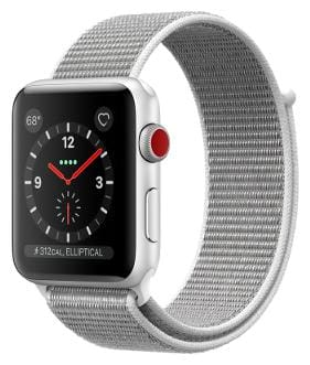 Paytmmall offers on Mobiles - Apple Watch Series 3 GPS + Cellular;38mm Silver Aluminium Case with Seashell Sport Loop