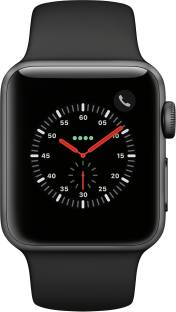 Flipkart offers on Mobiles - Apple Watch Series 3 GPS + Cellular 38 mm Aluminium Case Black Strap, Regular