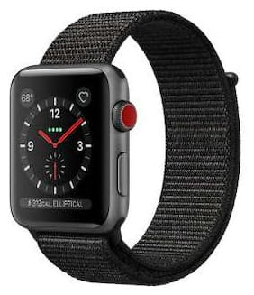 Paytmmall offers on Mobiles - Apple Watch Series 3 GPS + Cellular;38mm Space Grey Aluminium Case with Black Sport Loop