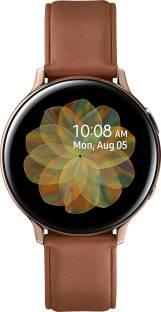 Flipkart offers on Mobiles - Samsung Galaxy Watch Active 2 Steel Smartwatch Brown Strap, Regular