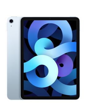 Paytmmall offers on Mobiles - Apple iPad Air (2020) 27.69 cm (10.9 inch) 64 GB Wi-Fi Only Sky Blue