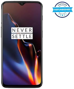 Paytmmall offers on Mobiles - Refurbished OnePlus 6T 6 GB 128 GB Mirror Black (Grade: Excellent)
