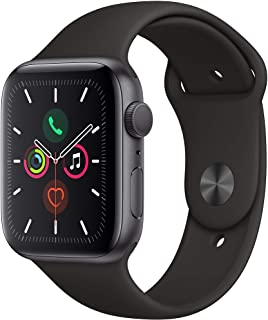 Amazon offers on Mobiles - Apple Watch Series 5 (GPS, 44mm) - Space Gray Aluminium Case with Black Sport Band