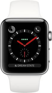 Flipkart offers on Mobiles - APPLE Watch Series 3 GPS + Cellular - 42 mm Stainless Steel Case with Sport Band White Strap, Regular