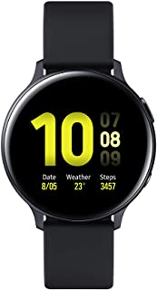 Amazon offers on Mobiles - Samsung Galaxy Watch Active 2 (Bluetooth, 44 mm) - Black, Aluminium Dial, Silicon Straps