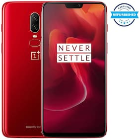 Paytmmall offers on Mobiles - Oneplus 6 8 GB 128 GB Amber Red (Refurbished : Good)