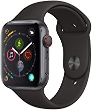 Amazon offers on Mobiles - Apple Watch Series 4 (GPS + Cellular, 44mm) - Space Grey Aluminium Case with Black Sport Band