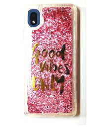 Snapdeal offers on Mobiles - Samsung Galaxy M01 Core Glitter Shining Stars - Rose Gold Liquid Glitter