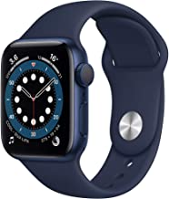Amazon offers on Mobiles - Apple Watch Series 6 (GPS, 40mm) - Aluminium Case with Deep Navy Sport Band - Blue
