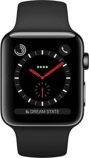 Flipkart offers on Mobiles - APPLE Watch Series 3 GPS + Cellular - 38 mm Space Black Stainless Steel Case with Sport Band Black Strap, Regular