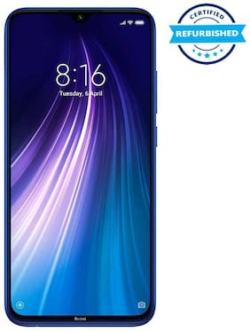 Paytmmall offers on Mobiles - Refurbished Xiaomi Redmi Note 8 4GB 64GB Neptune Blue (Grade : Good)