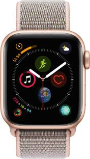 Flipkart offers on Mobiles - APPLE Watch Series 4 GPS 40 mm Gold Aluminium Case with Pink Sand Sport Loop Pink Strap, Regular
