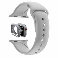 Shopclues offers on Mobiles - House Of Quirk Silicone Band Strap And Shock-Proof Case Cover Bumper Compatible With 42Mm Apple Watch Series 1,2,3 ( Watch Not Included) Light Grey