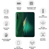 Shopclues offers on Mobiles - Realme 5i 4GB RAM 128 GB ROM Forest Green 5000mAh Battery 6.52 Display