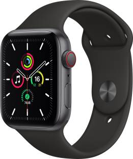 Flipkart offers on Mobiles - APPLE Watch SE GPS + Cellular 44 mm Space Grey Aluminium Case with Black Sport Band Black Strap, Regular