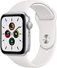 Amazon offers on Mobiles - New Apple Watch SE (GPS, 44mm) - Silver Aluminium Case with White Sport Band