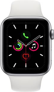 Flipkart offers on Mobiles - APPLE Watch Series 5 GPS 44 mm Silver Aluminium Case with White Sport Band White Strap, Regular