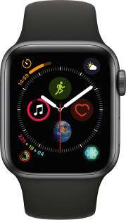 Flipkart offers on Mobiles - APPLE Watch Series 4 GPS, 40 mm Space Grey Aluminium Case with Black Sport Band Black Strap, Regular