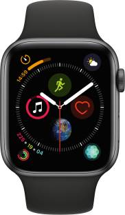 Flipkart offers on Mobiles - APPLE Watch Series 4 GPS 44 mm Space Grey Aluminium Case with Black Sport Band Black Strap, Regular