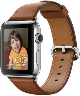 Flipkart offers on Mobiles - APPLE Watch Series 2 - 38 mm Stainless Steel Case with Saddle Brown Classic Buckle Brown Strap, Medium