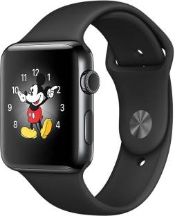 Flipkart offers on Mobiles - APPLE Watch Series 2 - 42 mm Space Black Stainless Steel Case with Space Black Sport Band Black Strap, Medium