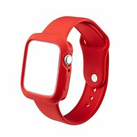 Shopclues offers on Mobiles - House Of Quirk Silicone Band Strap And Shock-Proof Case Cover Bumper Compatible With 42Mm Apple Watch Series 1,2,3 ( Watch Not Included) Red
