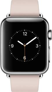 Flipkart offers on Mobiles - APPLE Watch 38 mm Stainless Steel Stainless Steel Case with Modern Buckle - Small Pink Strap, Small